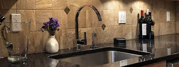 black granite countertops with tile backsplash interesting