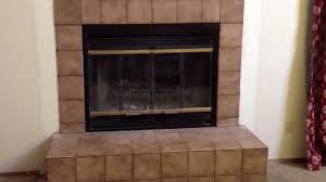 backyards how install pleasant hearth fireplace glass door