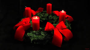 advent wreath candles 2nd advent wreath german adventskranz with two candles lit for