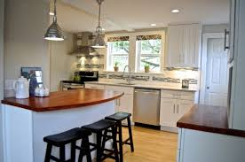 Cottage Kitchen Lighting Grey Glass Tiles Backsplash Facing Rustic White Pendant L