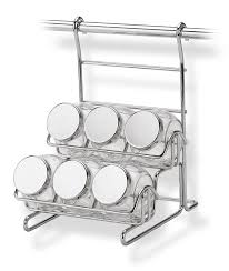 portaspezie guzzini portaspezie con 6 vasetti appicabile alla barra da cucina