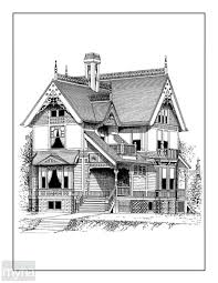 victorian houses homes adult coloring book 3 beautiful victorian houses
