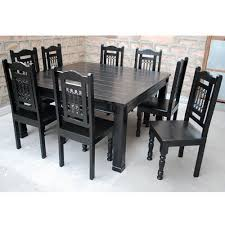 Modern Square Dining Table Seats  Large Square Dining Room Table - Black dining table for 8