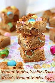 peanut butter eggs for easter peanut butter cookie bars with reese s peanut butter eggs recipe