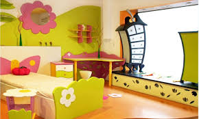 Beauteous  Single Wall Kids Room Decor Decorating Design Of Top - Children bedroom decorating ideas