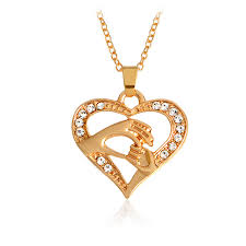 gold mother necklace images Mother love baby child big hand hold little hand heart necklace jpg