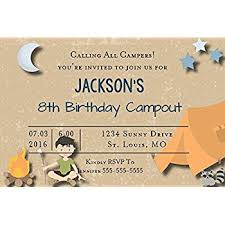 amazon com camping themed party invitations fill in style 20
