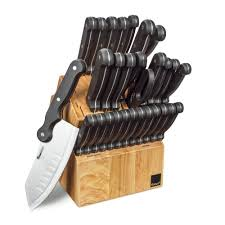 kitchen knives block set kitchen cutlery 30 piece set by ronco