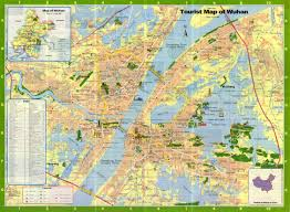 Changsha China Map by Wuhan City Feature U0026 Tourist Map China Maps Map Manage System Mms