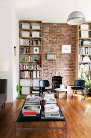 rustic apartment decorating ideas with small brick wall between