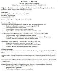 Sample Objective For Teacher Resume by Teacher Resume Examples 8 Samples In Word Pdf