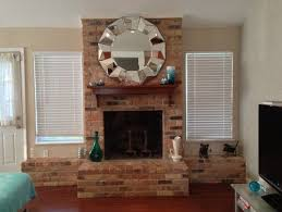 Whitewashing A Fireplace by Paint White Wash Or Completely Cover My Ugly Awkward Brick