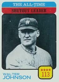 1973 topps walter johnson 476 baseball card value price guide