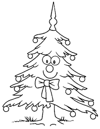 smiling christmas tree coloring christian coloring pages