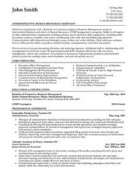 resume templates business administration administrative assistant resume template for download free
