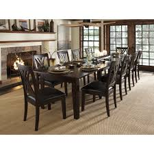 9 Pc Dining Room Set by A America Toluca Rectangular Extension Dining Table Rustic Amber
