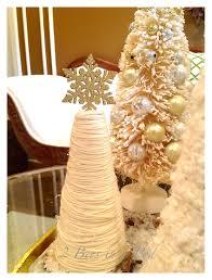 diy yarn christmas tree 2 bees in a pod