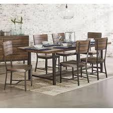 magnolia farms dining table industrial framework 7 piece dining set nebraska furniture mart