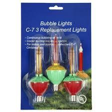 christmas bubble light replacement bulbs pack of 3 multi color c7 bubble light christmas replacement bulbs