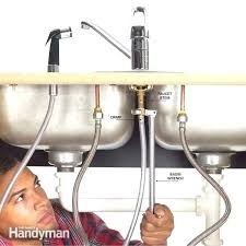 How To Change A Kitchen Faucet How To Replace Kitchen Sink And Installing Kitchen Sink Cabinet