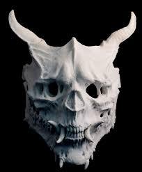 oni skull mask demon skull horror halloween costume mask