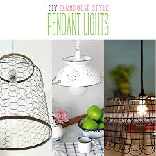 Farmhouse Pendant Lighting Diy Farmhouse Style Pendant Lights The Cottage Market