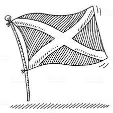 scottish flag drawing stock vector art 527441901 istock