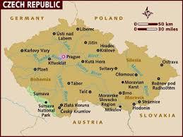 bohemia map map of republic