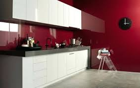 red black and white kitchen backsplash glass tile pictures brick