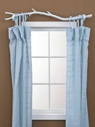 Tie Top White Curtains 7 Creative Curtain Rods You Can Make Branch Curtain Rods Spray