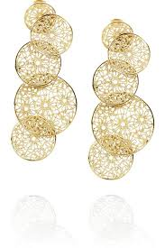 folklorico earrings gold tone filigree pendant earrings frida kahlo joyerías y frida
