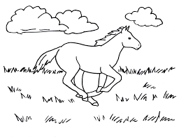 running horse coloring page samantha bell