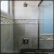glass tile trim bathroom extraordinary interior design ideas