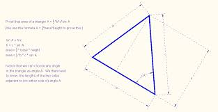 three ways to find the area of a triangle