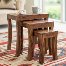 wood contemporary nesting tables contemporary nesting tables