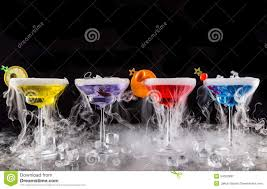 martini drinks martini drinks with dry ice smoke effect stock image image 54352891