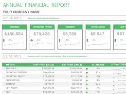 financial report template word template sample