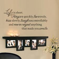 home decor love life is short wall decal quotes home decor love laugh regrets