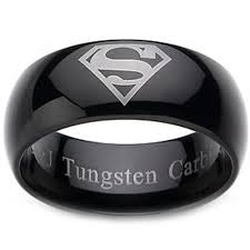 superman wedding band tungsten carbide ring scratch free everlasting quality best