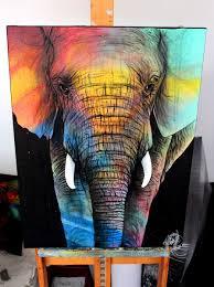 elephant color art de noé