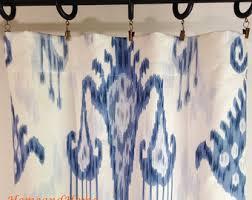 Blue Ikat Curtain Panels Ikat Curtain Panels Etsy