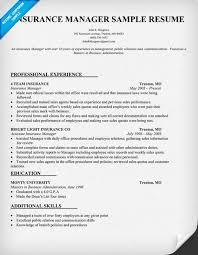 Insurance Sample Resume Car Insurance Manager Resume Sample Samplebusinessresume Com