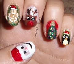 ehmkay nails blast from the past christmas character nail art