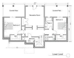 ranch with walkout basement floor plans plans house plans ranch walkout basement