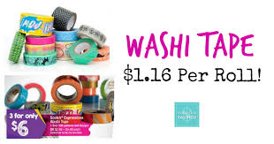 scotch tape coupon washi tape 1 16 per roll