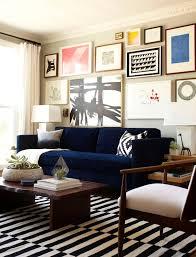blue velvet sofa eclectic living room benjamin moore half