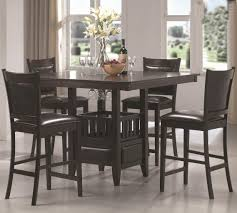 Coaster Dining Room Chairs Coaster Jaden Square Counter Height Table Cushioned Stool Set