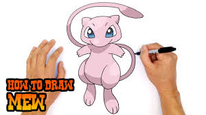 how to draw mew pokemon youtube