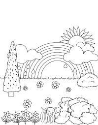 rainbow garden coloring pages rainbow coloring pages 4853