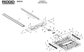 Ridgid Table Saw Parts R4510 Ridgid Table Saw Parts